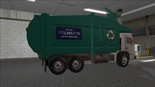 File:Saints Row variants - Stilwater Municipal - Recycle Truck - rear right.png