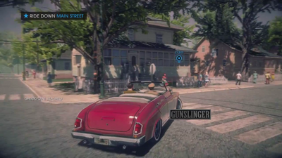 A Pleasant Day - Gunslinger logo - Ride Down Main Street objective