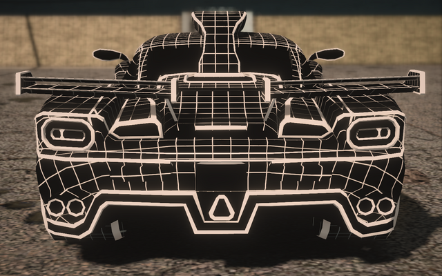 File:Saints Row IV variants - Wireframe Peacemaker Chopshop - rear.png