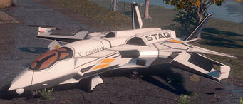 F-69 VTOL - Average variant - front left parked in Saints Row The Third