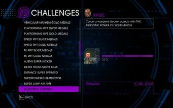 Challenge 33 Telekinetic Catches