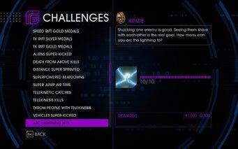 Challenge 37 Arc Lightning Hits
