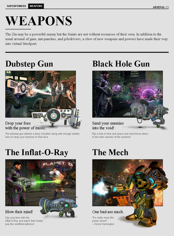 File:Saints Row website - Arsenal - Weapons.png
