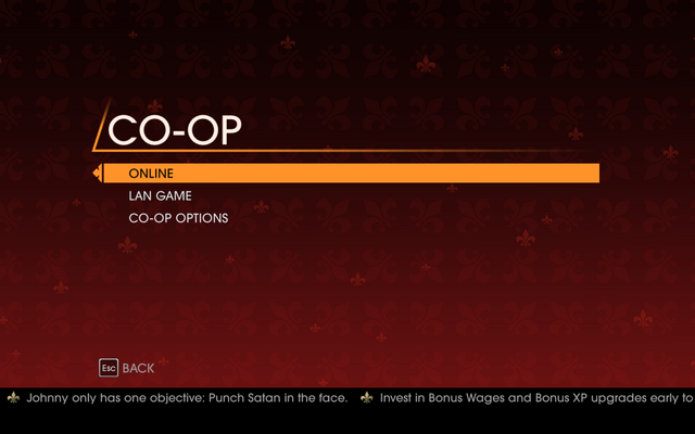 File:Saints Row Gat out of Hell - Main Menu - Co-op Campaign.png