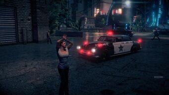 Police Gunslinger - front left with flashing lights in Saints Row IV