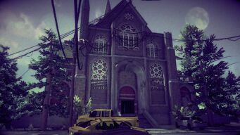 Saints Row Church - front left exterior in Saints Row IV