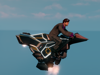 Saints Row The Third DLC vehicle - Ultor Interceptor - hover - right