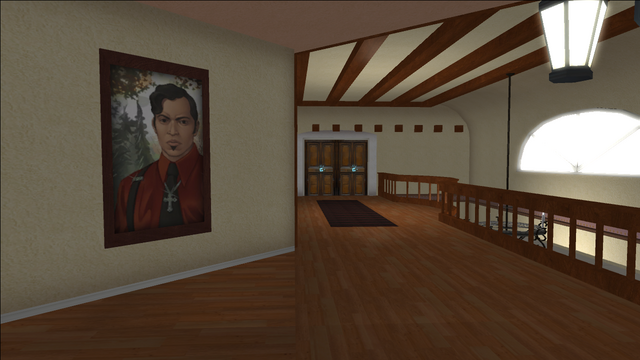 File:Lopez Mansion in Saints Row - Upper floor hallway with Angelo painting.png