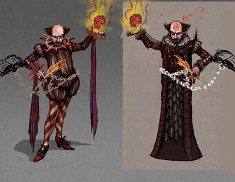 Shakespeare Concept Art - flaming skull