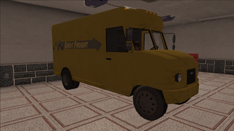 Saints Row variants - Delivery Truck - Great Freight - front right