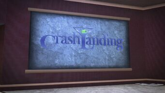 Crash Landing - large sign