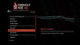 Weapon - Shotguns - Semi-Auto Shotgun - Big Game - Blue Camo