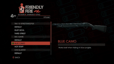 Weapon - Shotguns - Semi-Auto Shotgun - Big Game - Blue Camo