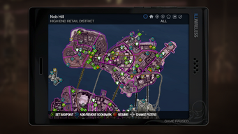 Map interface in Saints Row 2
