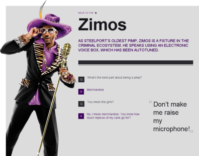 Saints Row website - Gangs - The Saints - Zimos