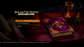 Gat out of Hell main menu - Gat out of Hell - From the simulation, to space, and now straight to Hell