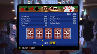 Poseidon's Palace - Poker initial interface