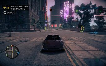 Cat and Mouse - Attrazione pursued by F-69 VTOL in Saints Row IV