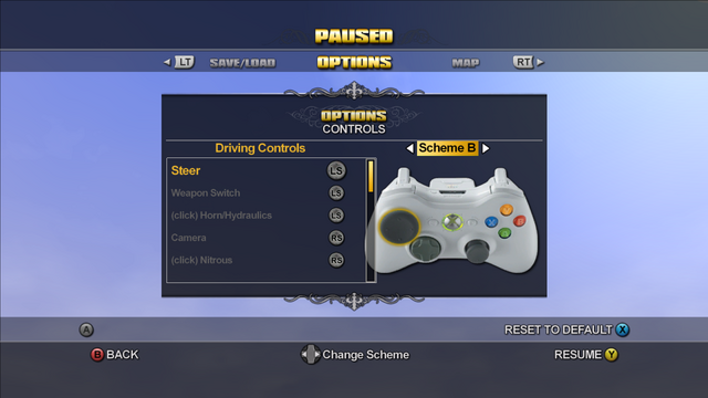 File:Saints Row Menu - Options - Controls - Driving Controls - Scheme B.png