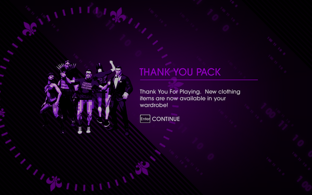 File:Saints Row IV Thank You Pack unlock screen.png