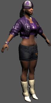 Saints Row character render - Aisha's body