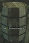 Improvised Weapon - wood barrel