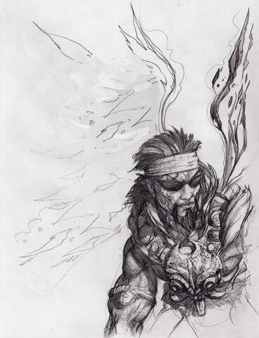 File:Johnny Gat Concept Art - Gat out of Hell Barbarian look - headband.jpg