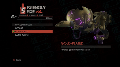 Weapon - Explosives - Black Hole Launcher - Singularity Gun - Gold-Plated