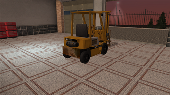 Saints Row variants - Forklift - industrial with pallet - rear right