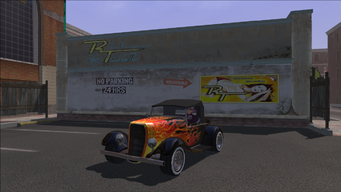 Rumbler with flame decal