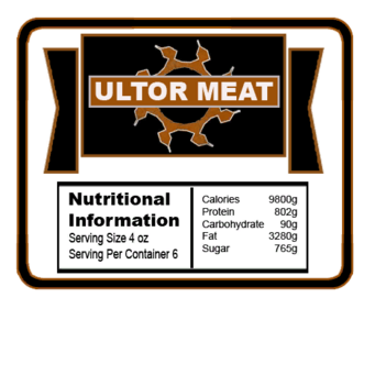 Ultor Meat label