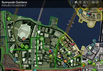 Map in Saints Row 2 - Projects - Sunnyvale Gardens