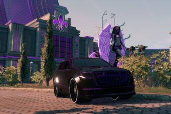 Atlantica - custom Black and Purple paint in Saints Row The Third