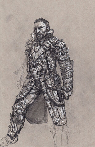 File:Johnny Gat Concept Art - Gat out of Hell Barbarian look - hair and armour.jpg