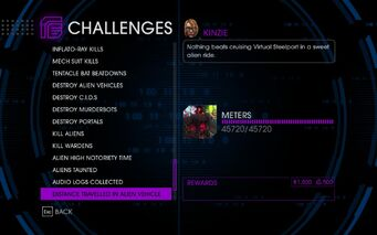 Challenge 62 Distance Travelled In Alien Vehicle