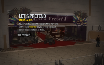 Let's Pretend in Rounds Square purchased in Saints Row 2