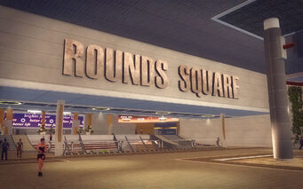 Rounds Square Shopping Center - Rounds Square sign