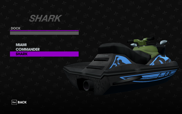 File:Shark in the Dock garage in Saints Row The Third.png