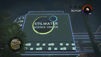 Stilwater Science Center in Saints Row 2 - Exterior Night