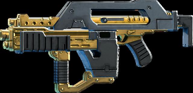 File:SRIV Rifles - Burst Rifle - Impulse Rifle - Black Gold.png