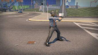 Ultor Security Guard aiming pistol