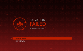Gat out of Hell - Salvation fail screen
