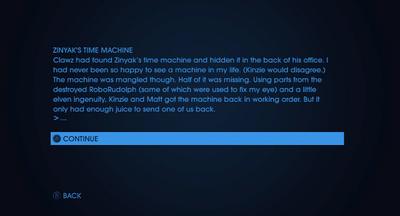 Christmas Text Adventures - Last Ditch Effort - Zinyak's Time Machine