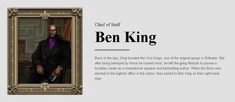 Saints Row website - People - The Cabinet - Ben King