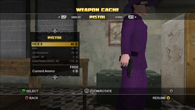 File:VICE 9 Pistol in the Weapons Cache in Saints Row.png