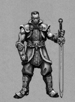 Johnny Gat Concept Art - Gat out of Hell Barbarian look - long sword