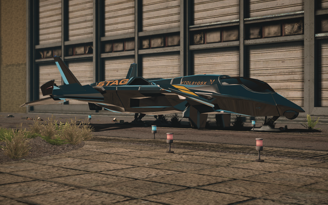 File:F-69 VTOL - cyrus variant - front left parked in Saints Row IV.png