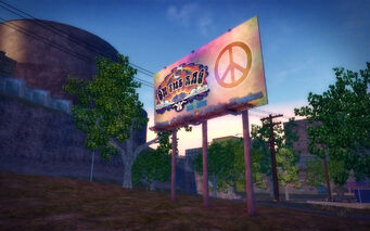 The Mills in Saints Row 2 - On the Rag billboard