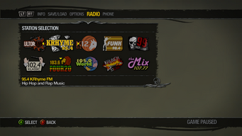 Saints Row 2 Radio Station description - 95.4 KRhyme FM