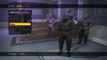 Gang Customization - Gang Style - Ninjas